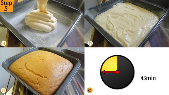 Step 5 - Scrumptious vanilla cake