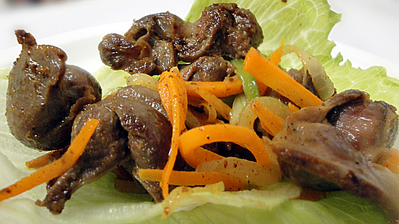 Enjoy! Your gizzards are ready to enjoy as a snack or as an accompaniment to a main meal.