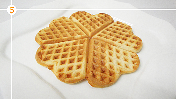 Your waffle is ready for your variations.