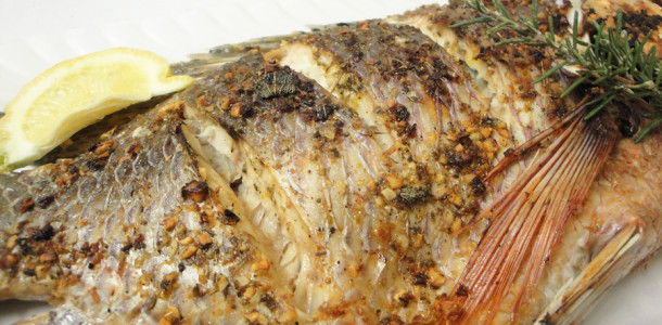 Grilled garlic and herb Kariba bream