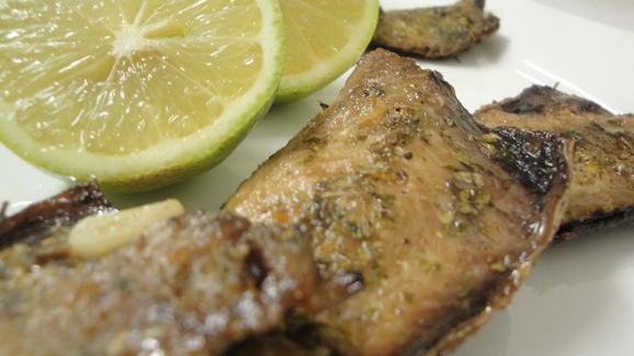 Zimbabwe baked mackerel fish