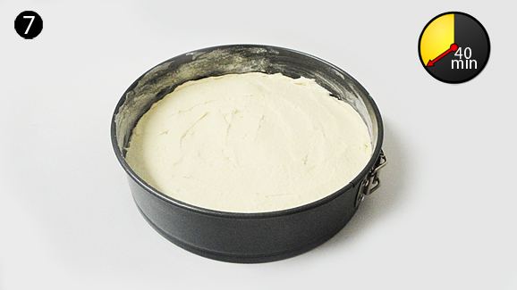 Grease and lightly dust your baking tin with flour. Pour batter into prepared baking tin and level out surface using table knife. Bake in preheated oven for 40 minutes.