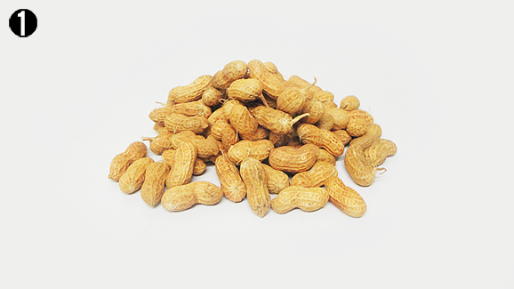 Wash your groundnuts thoroughly using running water to remove dust and soil particles