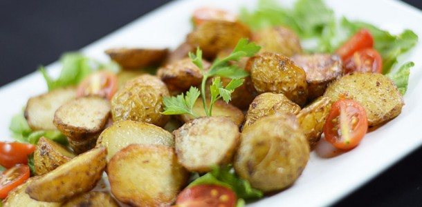 ... Starches » Potatoes » 343: Thyme and Garlic Roasted Baby Potatoes