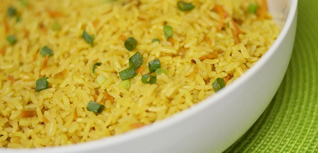 Garlic and onion par-boiled rice