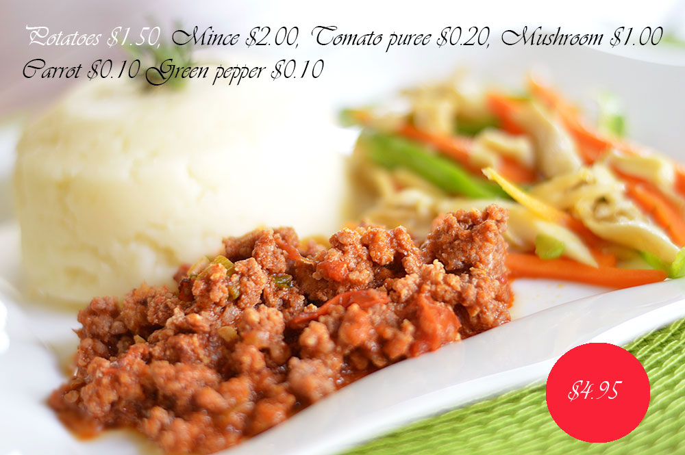 mashed potatoes and mince