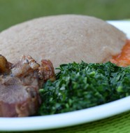 Zimbabwe Sadza served with goat meat