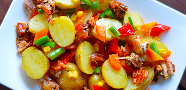 #onthemenuthisholiday Pilchards and Potato Salad