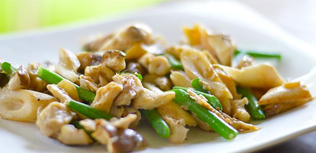 Nhedzi Mushroom & Green Beans Stir-fry