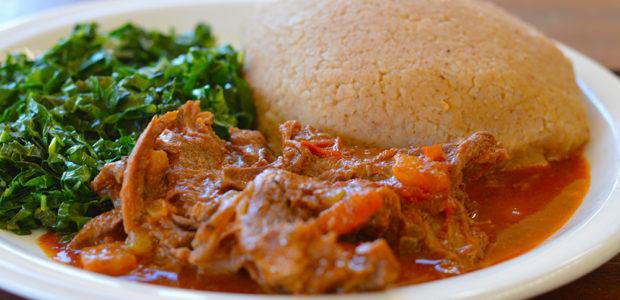 Mupunga unedovi (Peanut butter rice)