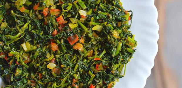 How to cook Mutsine (Blackjack leaves)