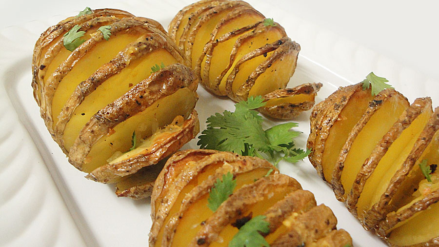 Grilled cheese tomato and ham sandwich zimbokitchen hasselback potatoes so easy to make you will be surprised forumfinder Image collections